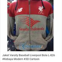 Jual Jaket Varsity Baseball Liverpool Bola L-826  Murah