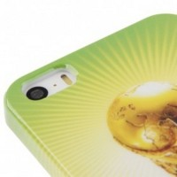Football World Cup Pattern Smooth Plastic Case for iPhone 5/5s/SE Yell