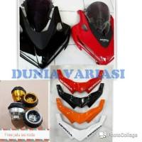 tameng + visor cbr 150 facelift free winglet dan sticker