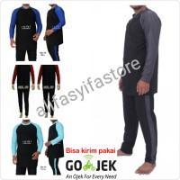 Baju Renang Pria Ukuran 5L (XXXXL) Tangan Panjang Dewasa SBL-50
