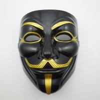 topeng v for vendeta hitam /vendetta mask black halloween cosplay