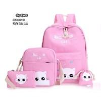 Jual Tas ransel sekolah backpack kitty cute 4in1 Murah