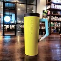 Jual Yellow Starbucks tumbler & travel mug with handle Murah