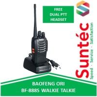 Baofeng BF 888s Walkie Talkie 3W Bonus Headset Earphone / HT Original