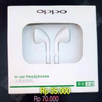 Earphone Oppo Handsfree Headset Original hp Putih R9 R7 Find F1 F1s