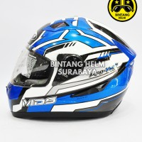 Helm Full Face MDS Provent White Blue