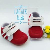 prewalker sepatu bayi cowok 0 - 9 bulan PUTIH MERAH BLUDRU/pw baby