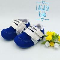 prewalker sepatu bayi cowok 0 - 9 bulan PUTIH BIRU BLUDRU/pw baby