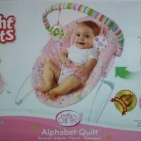 Bouncer Bright Starts Pink Alphabet Quilt