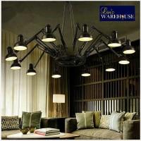 lampu gantung sorot industrial spider chandelier untuk cafe