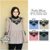 Findra Blouse / Top / Kemeja / Baju Wanita Casual / Hijab / Rok Ootd