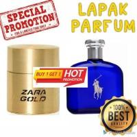 BELI 1 GRATIS 1 Parfum Zara Gold Man dan Polo Blue