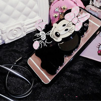 CASING SAMSUNG GALAXY J7 PRIME/ON7 CUTE 3D MIRROR MAKEUP CASE CARTOON