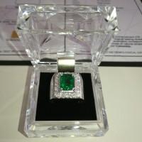 Jual Natural Emerald Zamrud Colombia 2.60 cts CE Minor Super Istimewa Murah