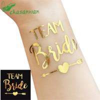 Sticker Tatto Bridal Party Wedding Gold Team Bride Bride