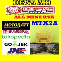Aki MOTOR MINERVA Motobatt MTX7A YTX7ABS Aki gel KERING bebas RAWAT
