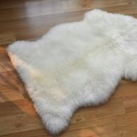 karpet alas bulu putih asimetris interior dekorasi rumah uk.60x100