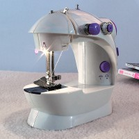 MINI Portable Sewing machine 202 LAMPU mesin jahit mini staples Alat