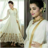 Jual gamis abaya syar'i white turki bordir gold + pashmina  Murah