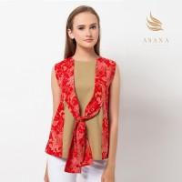 harga Asana Liris Bunga Combi Top Batik Wanita - Red Tokopedia.com