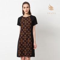 Asana Truntum Black Dress Batik Wanita - Black