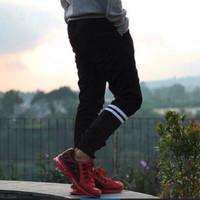 Celana Jogger Strip Pria / Celana Jogger Pants Panjang Pria Dc