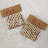 Wooden Clip Photo Polos Jepitan Kayu