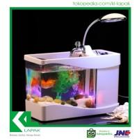 Aquarium Mini USB Murah / Hiasan Meja Belajar / Interior Rumah Unik