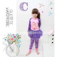 Piyama Anak Perempuan / Baju Tidur Anak / Tutu Dress: Barbie (2-7T)