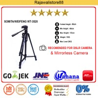 Weifeng Tripod DSLR - WT-3520 - Hitam - For Canon, Nikon, Sony Fuji