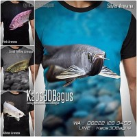 Kaos IKAN ARWANA | Kaos MANCING | Kaos 3D Gambar Ikan
