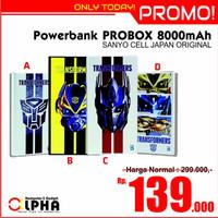 Jual [PROMO] Powerbank 8000mAh Probox Transformers Sanyo Battery Original Murah