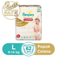 Jual Pampers Premium Care Active Baby Pants uk. L isi 62 Murah