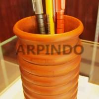 Tempat Alat Tulis Kayu jati   Wooden Pen Holder   Wooden Pen Stand