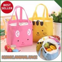 Jual Iconic Insulated Lunch Bag Cooler ANIMAL FACE -Tas Bekal Makan (GN212) Murah