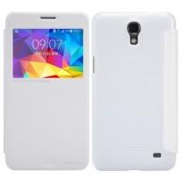 Nillkin Sparkle Samsung Galaxy Mega 2 Flip Leather Case Cover - White