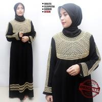 Jual Sale Gamis Abaya Hitam exclusive , Gamis Pesta Bordir, Abaya Arab 015 Murah