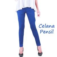 Celana Panjang Wanita model Pensil bahan Katun 3R, Kantor/Santai/XXXL