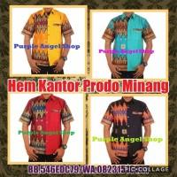 Kemeja Hem Lengan Pendek Exclusive PRIA KEKINIAN Batik PRODO MINANG
