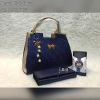 Harga tas lokal tas murah tas paket murah paket 3in1 pearl plat floral tb | Pembandingharga.com