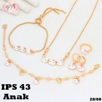 harga Set Perhiasan Xuping Anak Hello Kitty Cat Putih Pink Ps43 Tokopedia.com