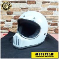 Helm Cakil List Chrome Putih