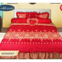 Set Bedcover + Sprei 180x200 CALIFORNIA Songket - KING 180 (MY LOVE)