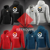 Hoodie Zipper / Jaket Sweater / Overwatch - Super Premium