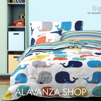 Sprei NOVA LINEN SINGLE 120 x 200 MURAH Motif BIG FISH