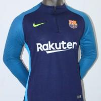 Jaket Hoodie Sweater Midlayer Barca Barcelona Training 17/18 Grade Ori