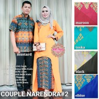 PUSAT GROSIR baju narendra couple 2 suami & istri balotely katun batik