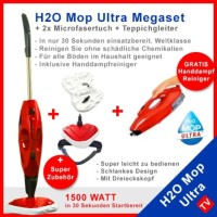 Gshop H2O Ultra Steam Mop 3 in 1 Handheld Cleaner Pembersih Serbaguna