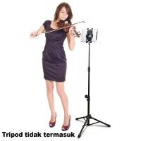 Jual Clamp Tablet iPad Tab Holder Bracket Mount for Tripod Monopod Tongsis Murah
