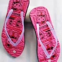 Sandal Jepit Wanita motif Hello Kitty warna Pink - ukuran 36 s/d 39